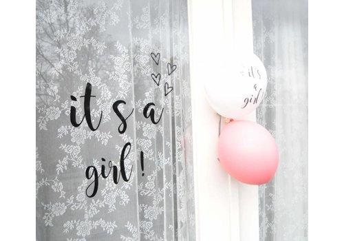 SuzyB Geboortesticker it's a girl