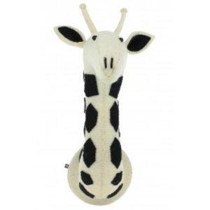 Fiona Walker Dierenkop Zwart/Wit Safari Giraffe