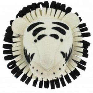Fiona Walker Dierenkop Zwart/Wit Safari Tijger
