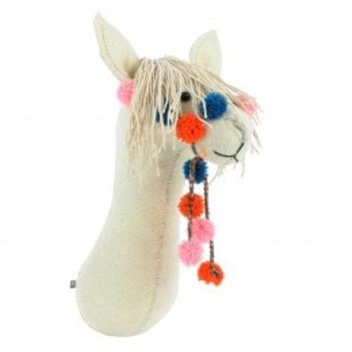 Fiona Walker Semi Cream Llama with bridle
