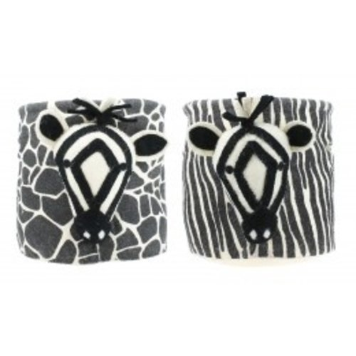 Fiona Walker Storage bag Zebra mixed prints