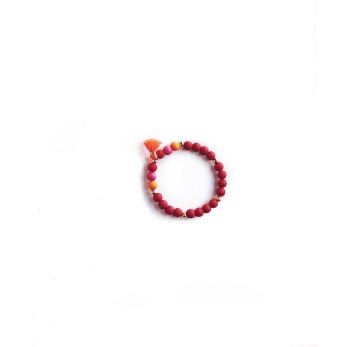 NJOOY Armbandje roze/rood/orandje