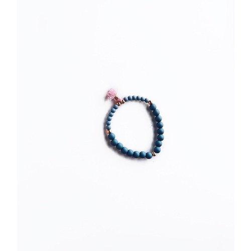 NJOOY Armbandje pagode blauw