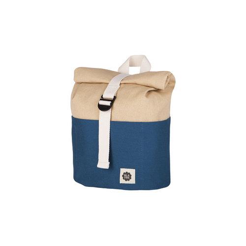 Blafre Roll Top Backpack 9,5L Navy + beige