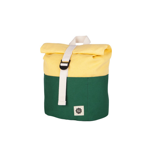 Blafre Roll Top Backpack 9,5L dark green + light yellow