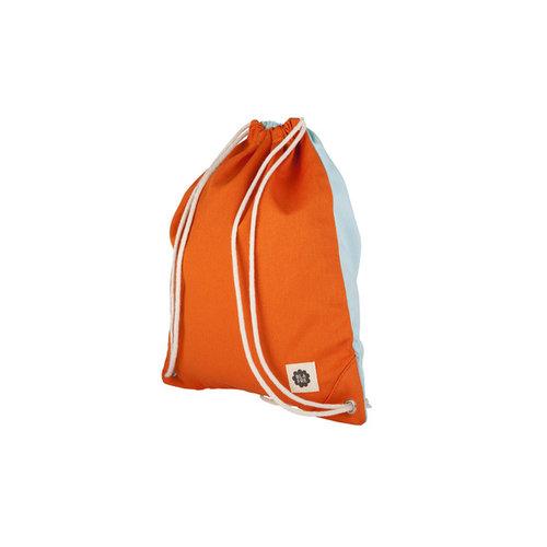 Blafre Gym/ zwemtas orange + light blue