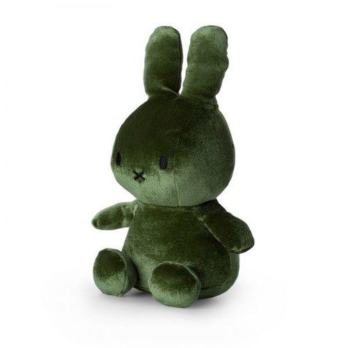 Nijntje Miffy Nijntje Miffy Fluweel Donker groen 23cm