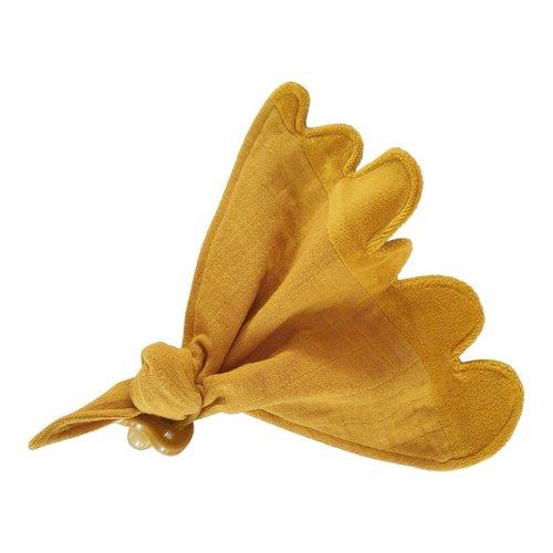 Play At Slaep Cuddle Cloth, Knuffeldoekje Autumn Glory (mosterd geel)