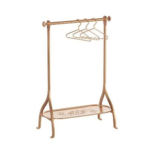 Maileg  Clothes Rack gold with 3 hangers