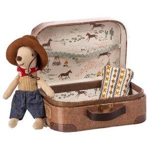 Maileg  Cowboy Muis kleine broer in koffertje