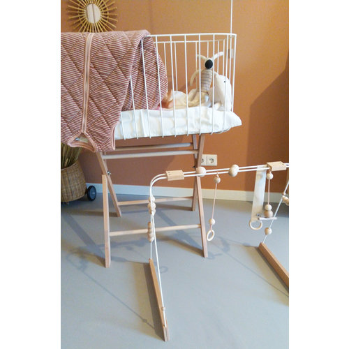 AndMe BabyGym &Me Hout, Wit+ Witte details