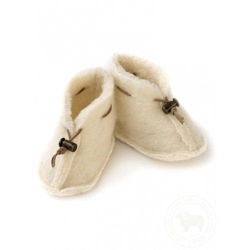 ALWERO Babyslofjes emo wool naturel