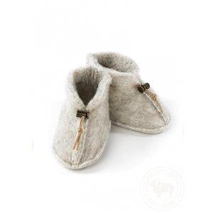 ALWERO Slofjes Emo Wool Light Grey