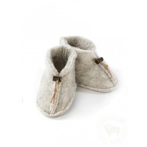 ALWERO Babyslofjes emo wool light grey