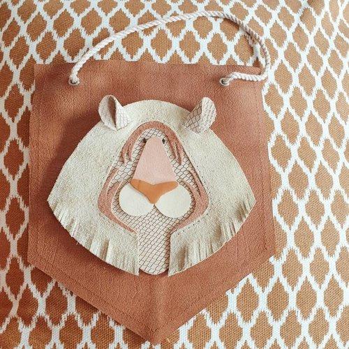 Atelier Ovive Wall Deco Siberische Tijger: Nude, Brown
