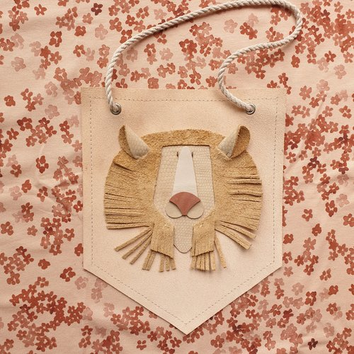 Atelier Ovive Wall Deco Lion: Nude, Soft Pink