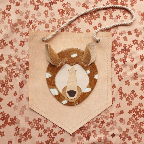 Atelier Ovive Wall Deco Deer: Soft Pink