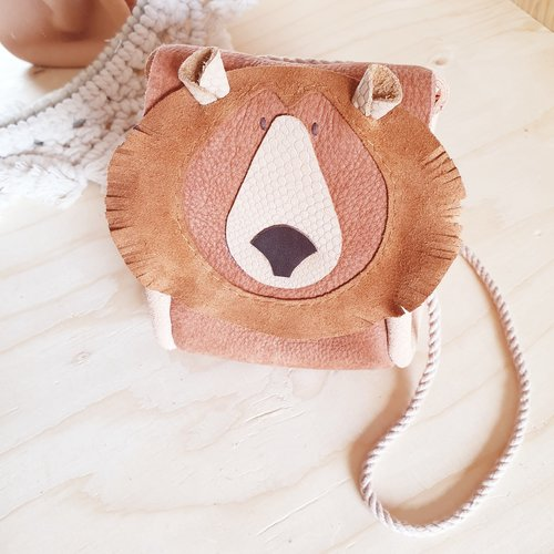 Atelier Ovive Grizzly Bear Bag; Rust/ Soft Pink
