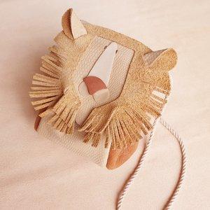Atelier Ovive Lion Bag: Nude/ Rust