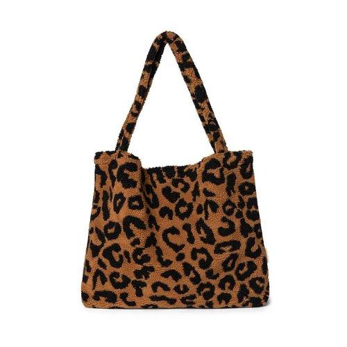 Studio Noos LIMITED EDITION- Teddy leopard brown mom-bag