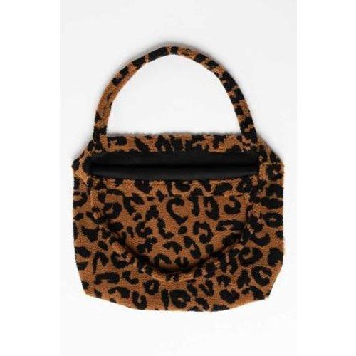 Studio Noos Mom bag, LIMITED EDITION, Teddy leopard brown