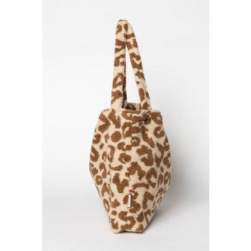 Studio Noos  Mom bag, Teddy leopard ecru