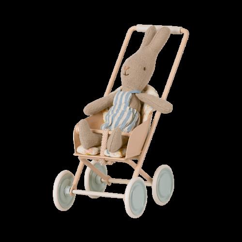 Maileg  Kinderwagen poeder roze