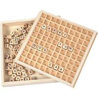 Houten letterbord