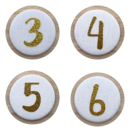 Liezelijn Cijferbuttons 3-6, Goud