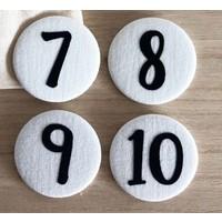 Cijferbuttons 7-10, Blauw