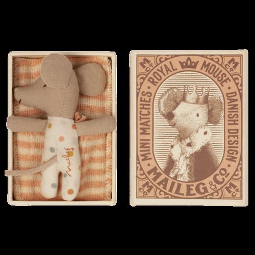 Maileg  Baby muisje in luciferdoosje - meisje