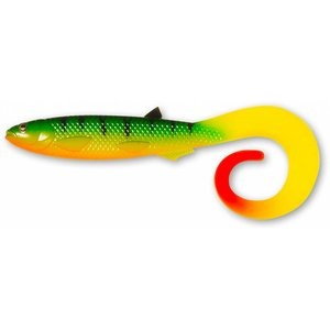 QUANTUM SPECIALIST YOLO CURLY SHAD 21cm Firetiger Hot Tail