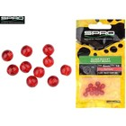 SPRO Round Smooth Glass Beads Red Ruby