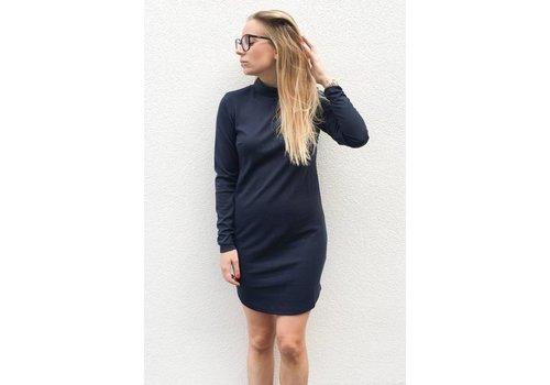 RUT AND CIRCLE LISA DRESS NAVY BLUE