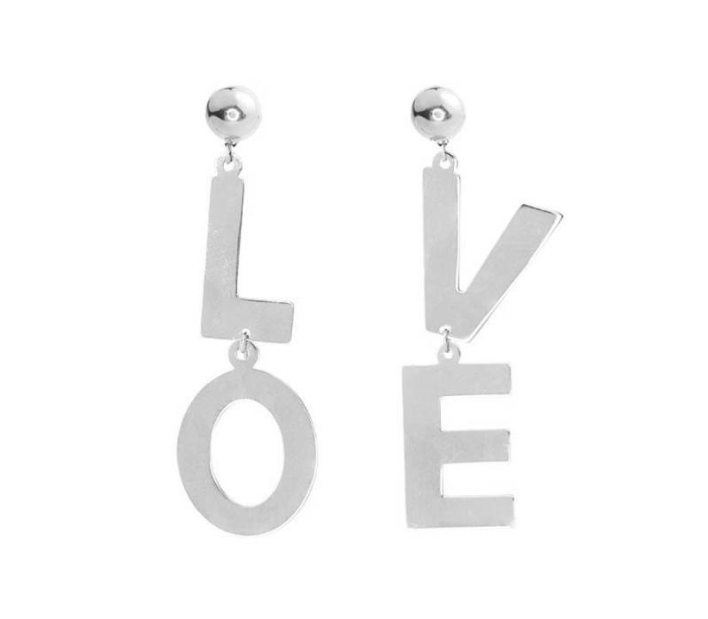 LOVE EARRINGS  - SILVER