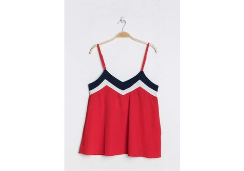 TRICOLOR TOP - RED