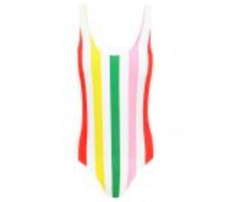 STRIPED SWIMSUIT - GREEN