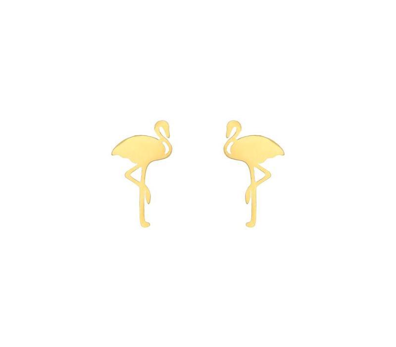FLAMINO EARRINGS GOLD