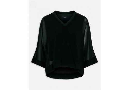 SISTERSPOINT BLACK NAVEL BLOUSE