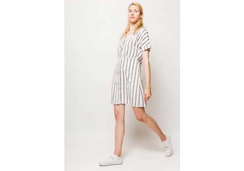 WHITE LILY BUTTON DRESS