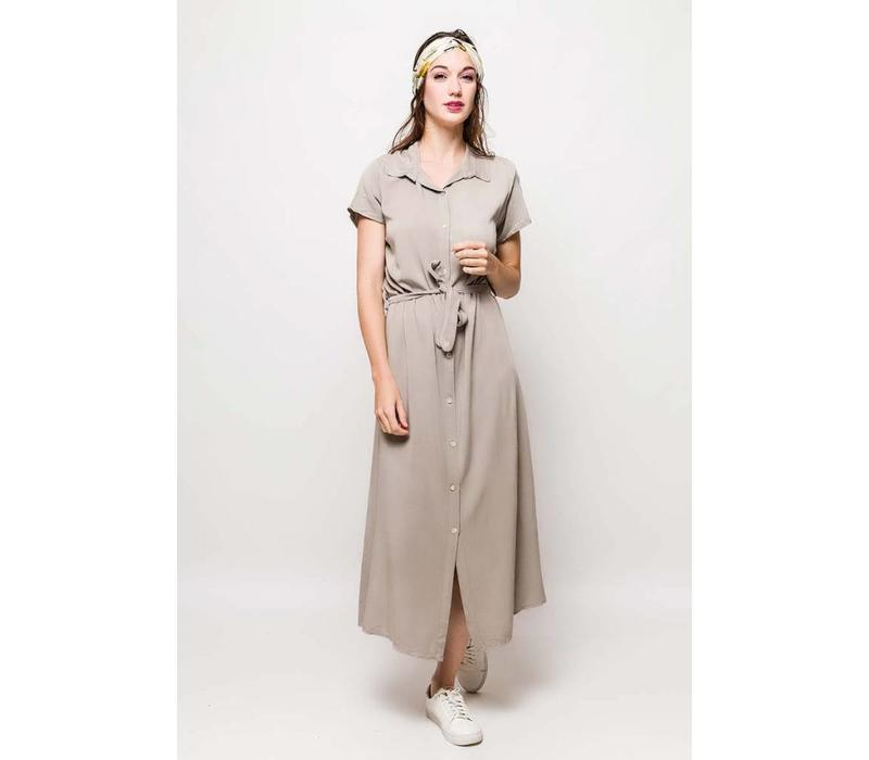 CLAUDINE TAUPE DRESS one size