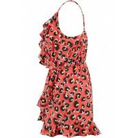 RED LEO SHORT DRESS