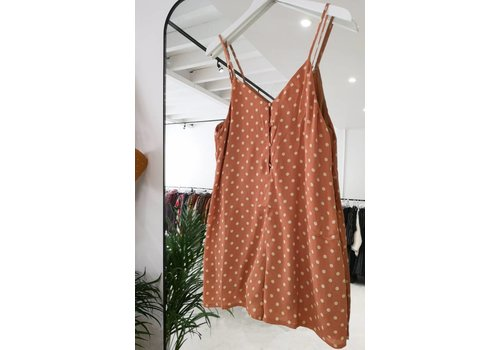 DOTS PLAYSUIT CAMEL