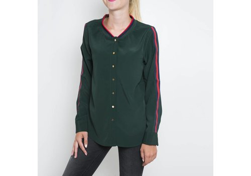GREEN BOMBER BLOUSE