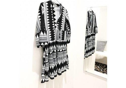BLACK AZTEC DRESS - one size