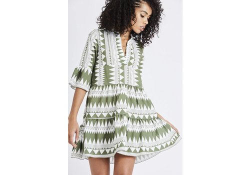 GREEN AZTEC DRESS
