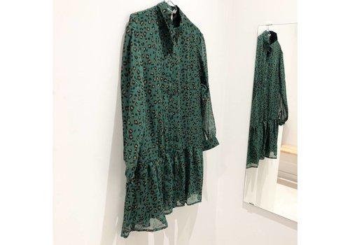GREEN LEO DRESS