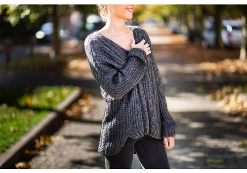 GREY PEGGY KNIT - ONE SIZE