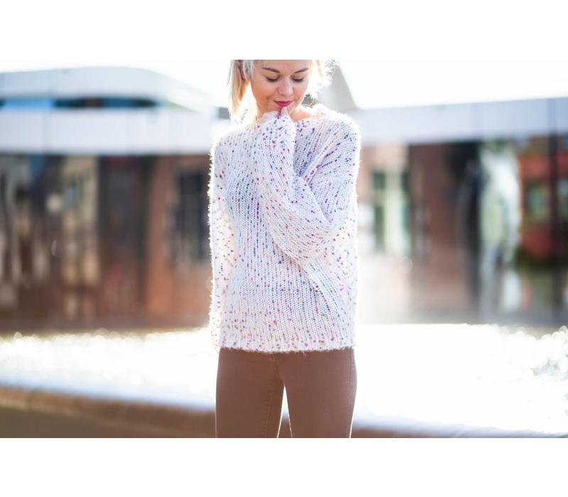 CONFETTI BUBBLE KNIT - One size