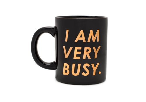 HOT STUFF CERAMIC MUG - I AM VERY BUSY